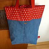 Nákupné tašky - veľká denimová taška - 9555696_