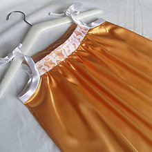 Detské oblečenie - oranžovo medené slávnostné dievčenské šaty veľkosť 140 - 9556833_