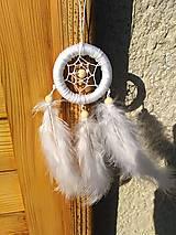 Dekorácie - Malý biely lapač snov - 9557133_