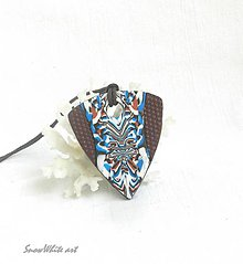 Náhrdelníky - Modrohnedák elegantný - 9555992_