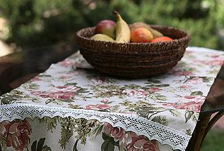 Úžitkový textil - Obrus s ružami - 9555968_