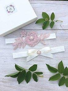 Bielizeň/Plavky - Elegantný Set ružových podväzkov - 9557243_