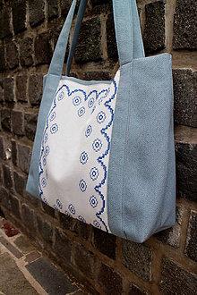Veľké tašky - svetlo - modrá belka - 9556524_