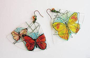 Náušnice - Recy motýle - veľké náušnice - 9557004_