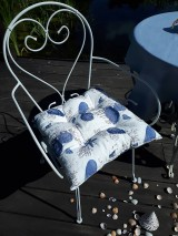 Úžitkový textil - Ľanový podsedák Sound of Sea - 9557079_