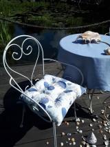 Úžitkový textil - Ľanový podsedák Sound of Sea - 9557081_