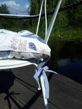 Úžitkový textil - Ľanový podsedák Sound of Sea - 9557086_