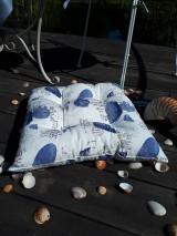 Úžitkový textil - Ľanový podsedák Sound of Sea - 9557088_