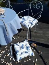 Úžitkový textil - Ľanový podsedák Sound of Sea - 9557092_