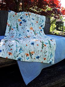 Úžitkový textil - Ľanová štóla Bloosoming Flowers - 9557099_