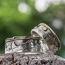 Prstene - Svadba s nadhľadom  /Ag_Au varianta/ - 9559731_