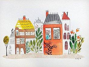 Obrazy - Mesto 40 originál maľba / ilustrácia - 9558966_