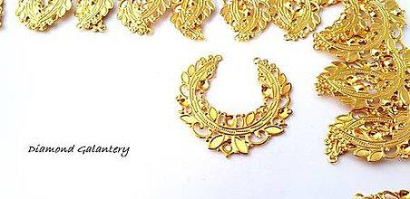 Komponenty - Filigrán 46 mm - zlatý - 9558903_