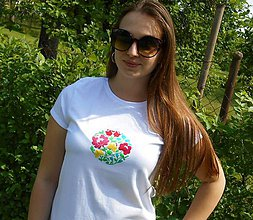 Tričká - spring in slovak garden-color Tshirt II - 9559724_