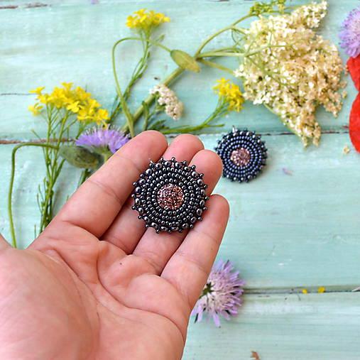 Druzy earrings n.2  - vyšívané náušnice