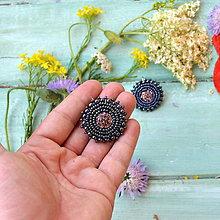 Náušnice - Druzy earrings n.2  - vyšívané náušnice - 9559717_