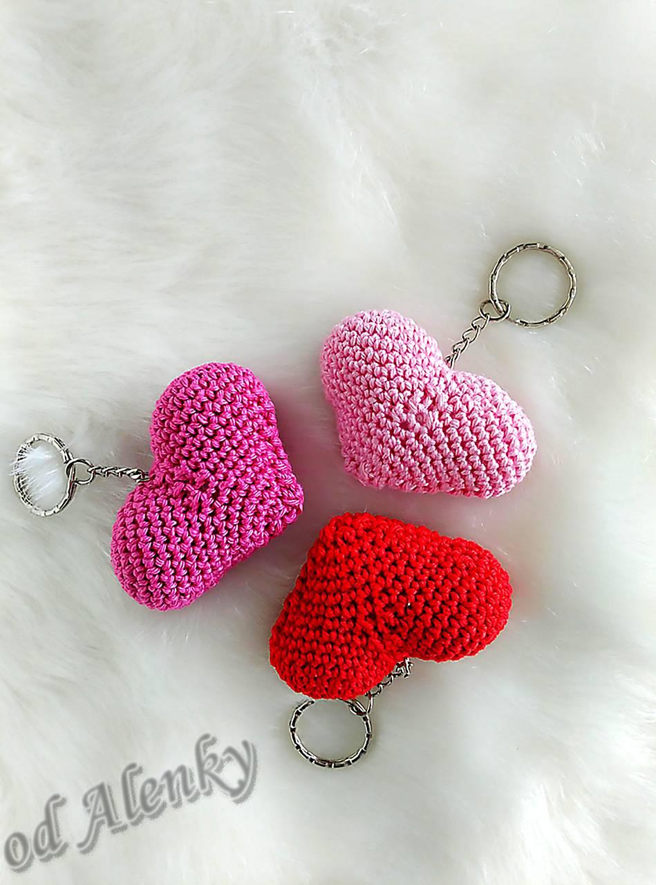 Srdiečka - kľúčenky   crochet alca - SAShE.sk - Handmade Kľúčenky 6459f0b473