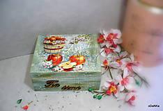 Krabičky - drevená krabička na čaj Apple - 9557994_