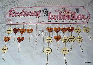 Dekorácie - rodinný kalendár Vintage - 9557978_