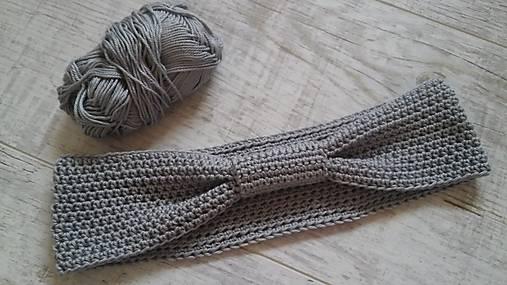 šedá háčkovaná čelenka   M.I.L.Y. - SAShE.sk - Handmade Detské doplnky 14b5b021c7