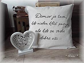 Úžitkový textil - Domov je tam, kde ... - 9557530_