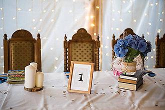 Papiernictvo - Svadobné číslovanie stolov pre knihomoľov - 9559298_