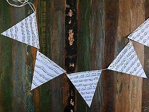 Papiernictvo - Girlanda vlajky noty - 9559617_