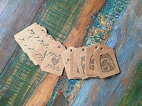 Papiernictvo - Kraft visačky svadobné - 9559689_