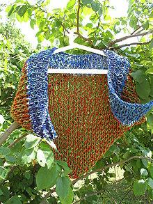 Šatky - KRÁSNE ŠATKY - rôzne farby + VAŠA FARBA - 100% merino vlna (Rôzno-farebná šatka..) - 9557927_