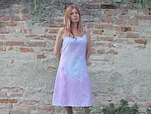 Šaty - Romantické batikované ľanové šaty - 9558819_