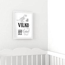 Detské doplnky - Omaľovánka - Dino - 9559866_