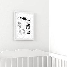 Detské doplnky - Omaľovánka - Žirafka - 9559879_