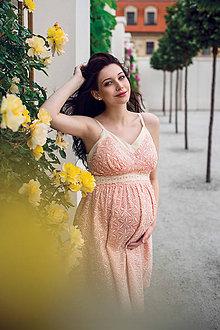 Tehotenské oblečenie - Šaty MADEIRA pink - 9559802_