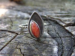 Prstene - Strieborny prsteň Ag 925 Slnečný kameň - 9557857_