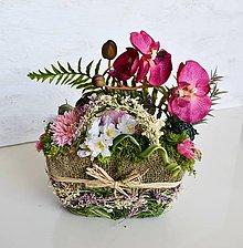 Dekorácie - Dekorácia Orchidea v košíku - 9558467_