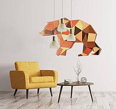 Grafika - Grizzly / 3D dekorácia na stenu / papierový model / skladačka / PDF / low poly origami - 9558127_