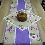 Úžitkový textil - Jarný s fialovou - stredový obrus - 9558206_