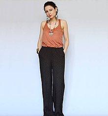 Nohavice - Široké letné nohavice so zvýšeným pásom - 9558245_