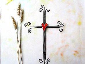 Dekorácie - tepaný krížik* 28 cm - 9558014_