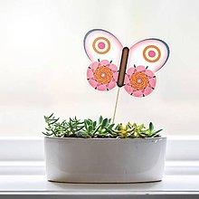 Dekorácie - Zápich do kvetináča - motýľ (3) - 9557758_