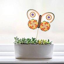 Dekorácie - Zápich do kvetináča - motýľ (4) - 9558039_