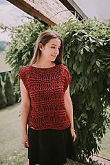 Topy - Romantický top - 100% bavlna - 9560939_