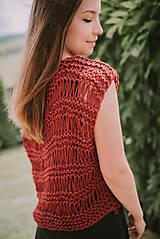 Topy - Romantický top - 100% bavlna - 9560942_