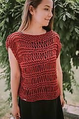 Topy - Romantický top - 100% bavlna - 9560943_