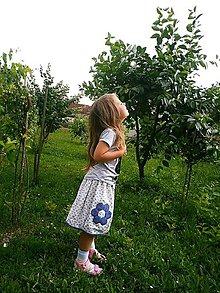 Detské oblečenie - Sukňa z babičkinej záhrady - 9562811_