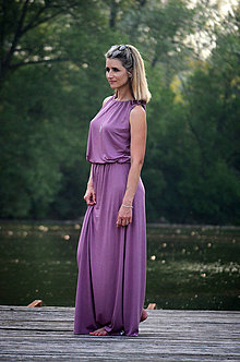 ee25c512e055 Šaty - Dlouhé šaty starorůžové - vyberte si svou barvu!! - 9563749