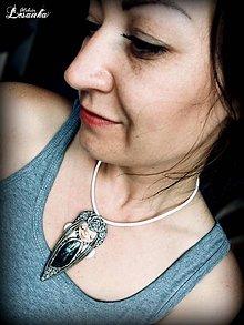 Náhrdelníky - ♥Vílí ochranný amulet s labradoritom♥ - 9562595_