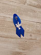 Pierka - pierko modré s holubicou - 9561233_