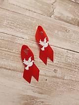 Pierka - pierko červené s holubicou - 9561237_