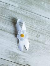 Pierka - pierko biele s bielou margarétkou - 9561273_